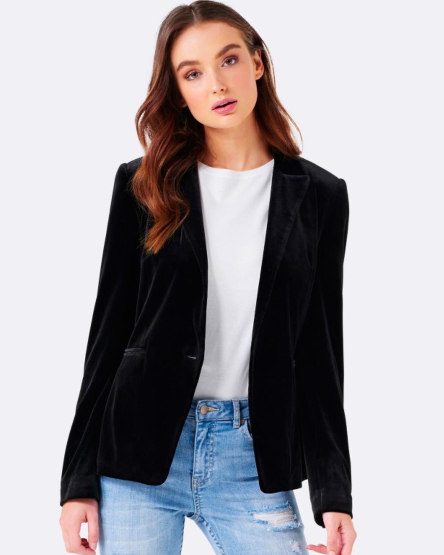 Forever New Bethany velvet blazer
