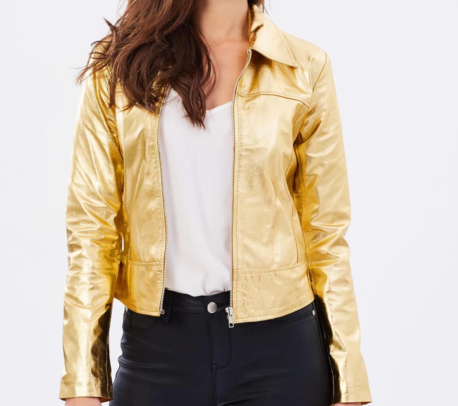 Wheels & Dollbaby crash leather jacket