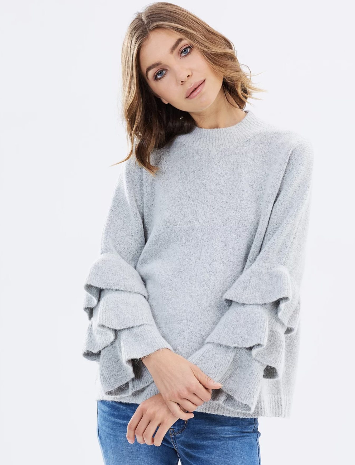 Atmos & Here aymeli frill sleeve knit $69.95