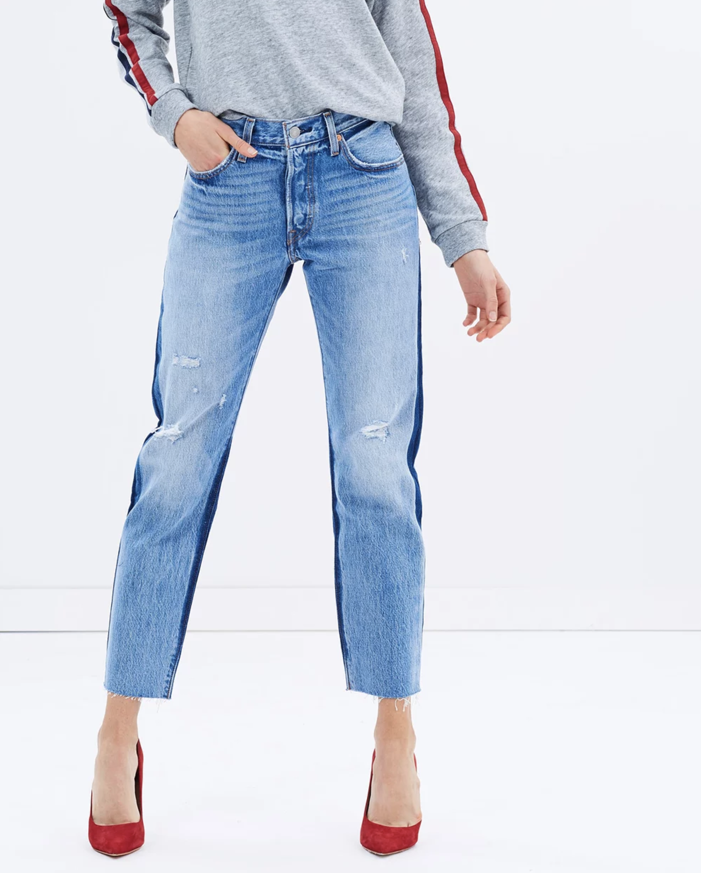 Levis 501 cropped jeans $149.95