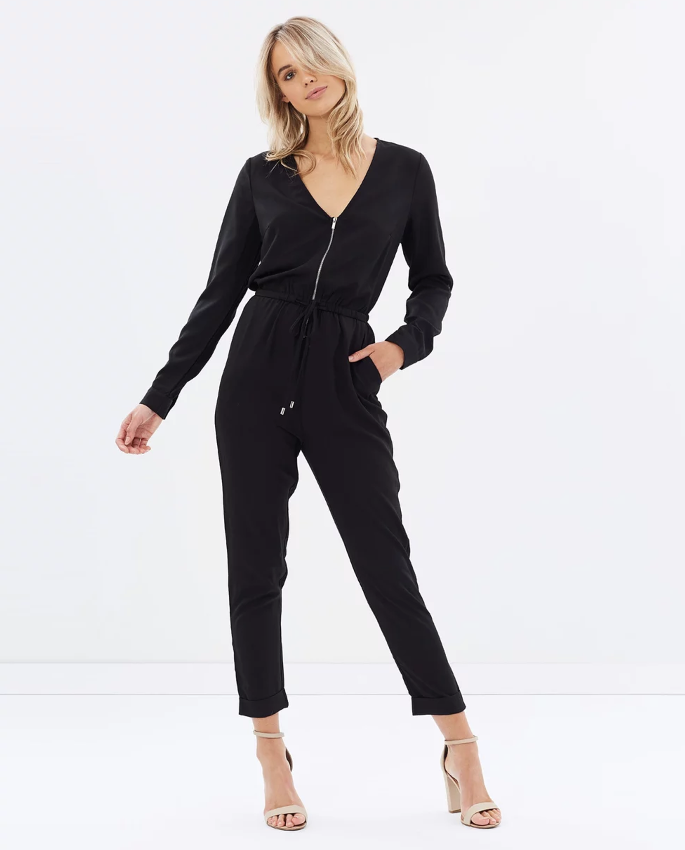 Atmos & Here Demi zip front jumpsuit $89.95