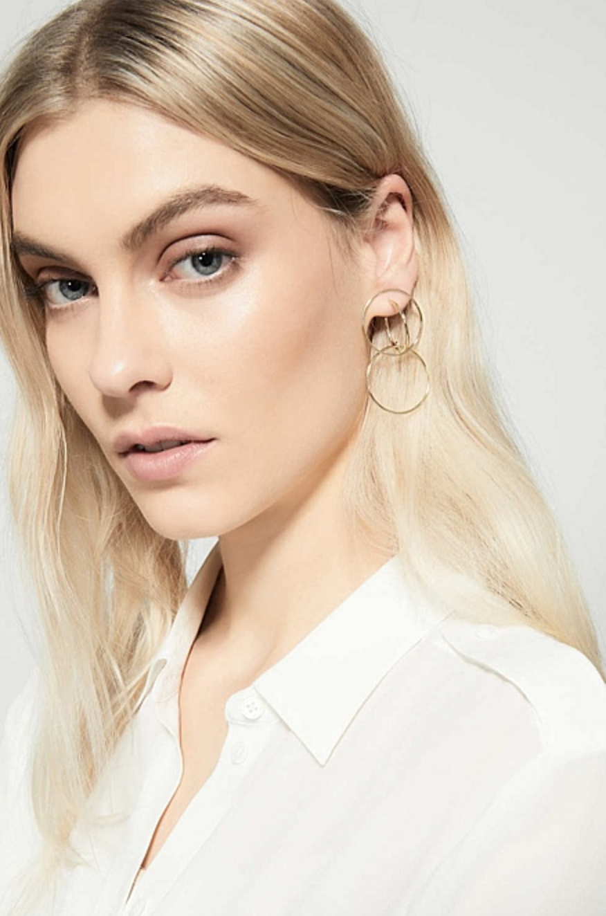 Witchery cage circle earrings $39.95