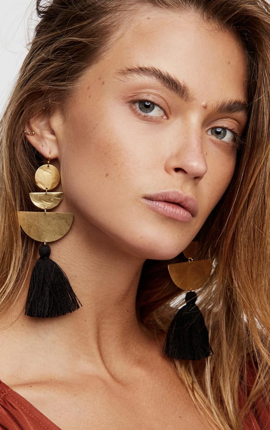 Free People Bryce canyon tassel earrings $88