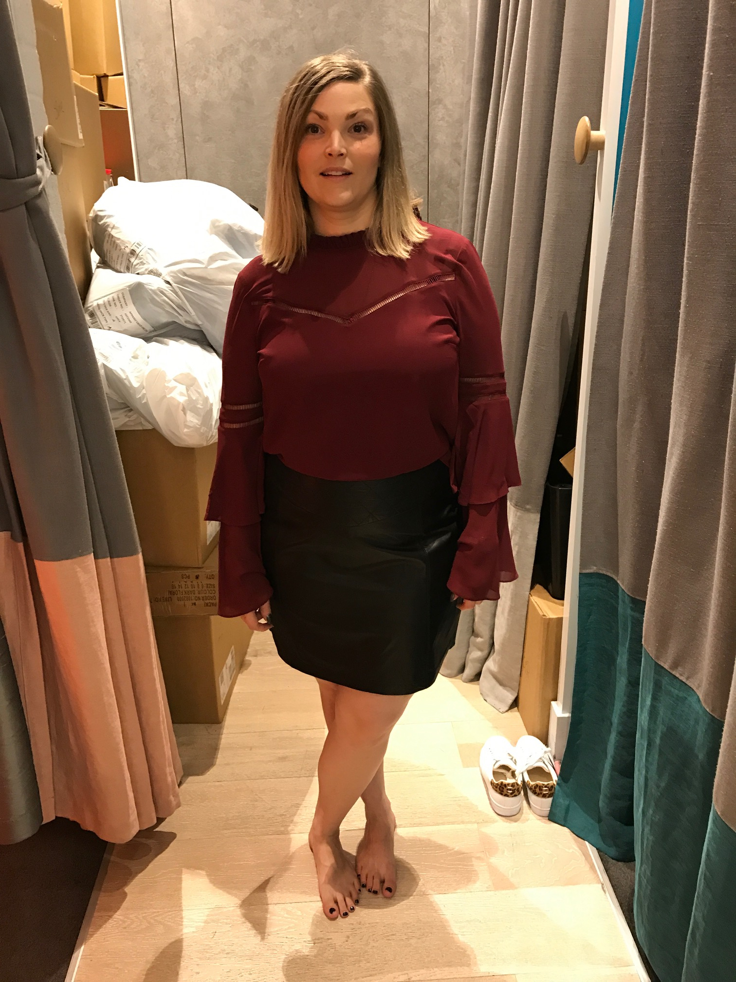 burgundy and leather skirt.jpg