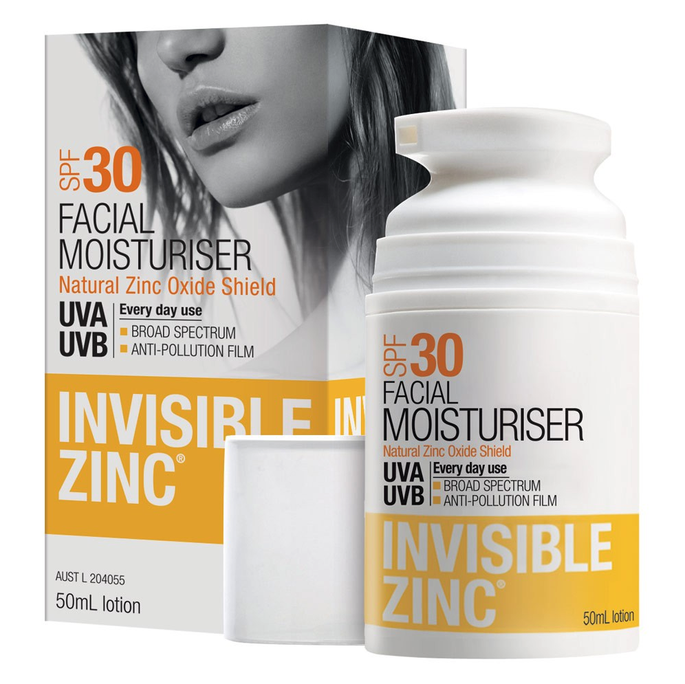Invisible Zinc facial moisturiser SPF 30