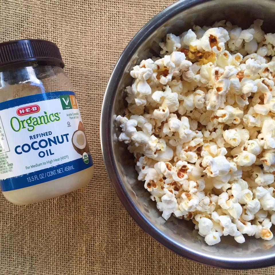 Coconut Oil Stovetop Popcorn