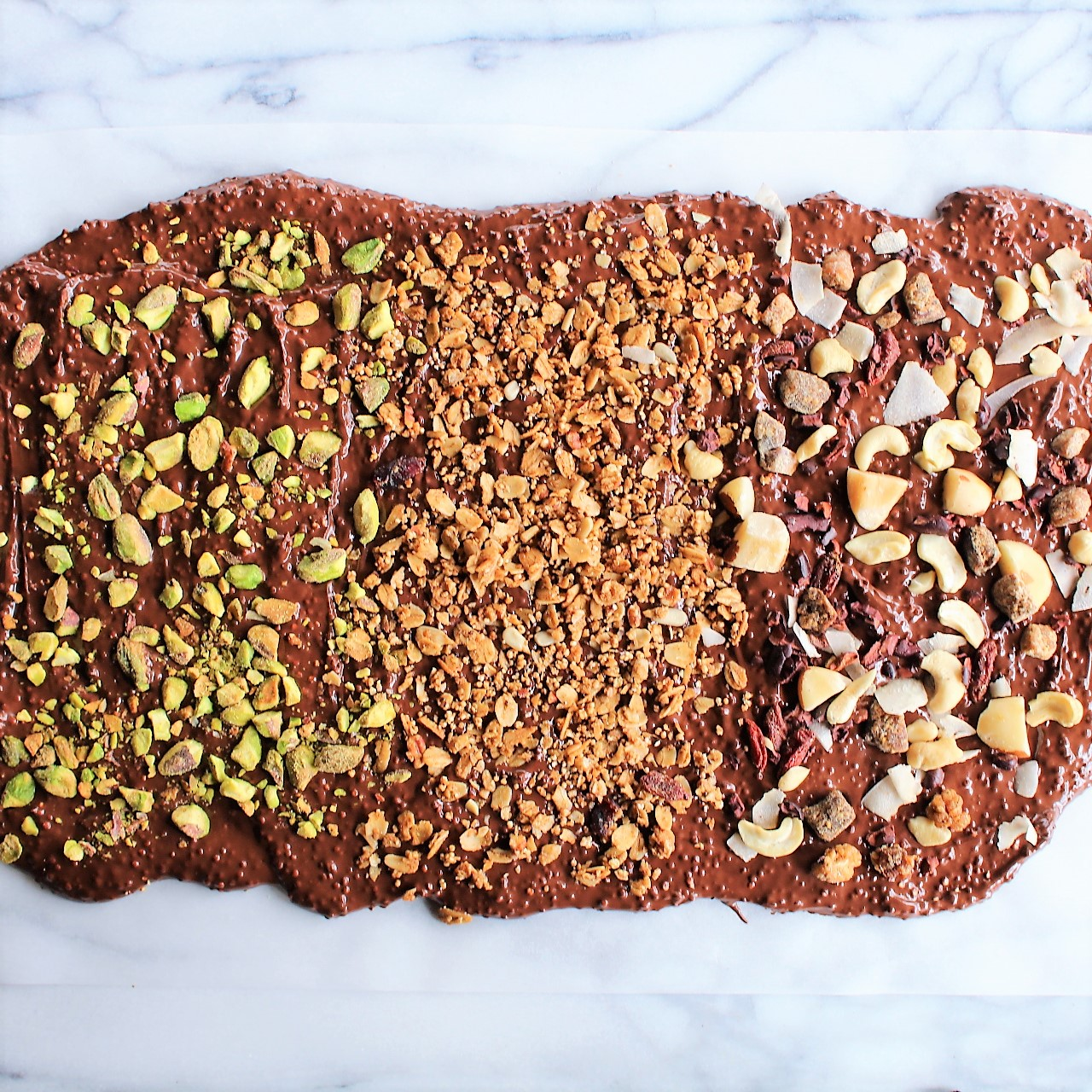 Puffed Quinoa Chocolate Almond Bark