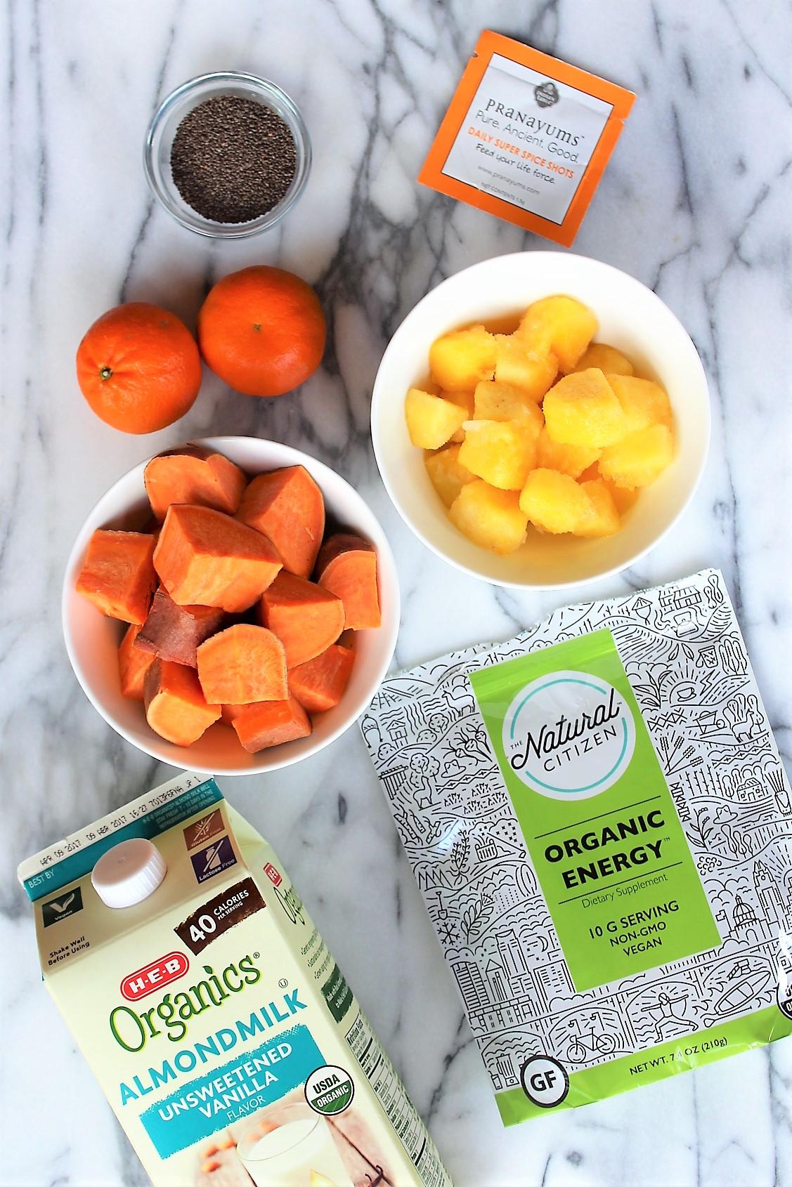 sweet potato sunrise smoothie ingredients