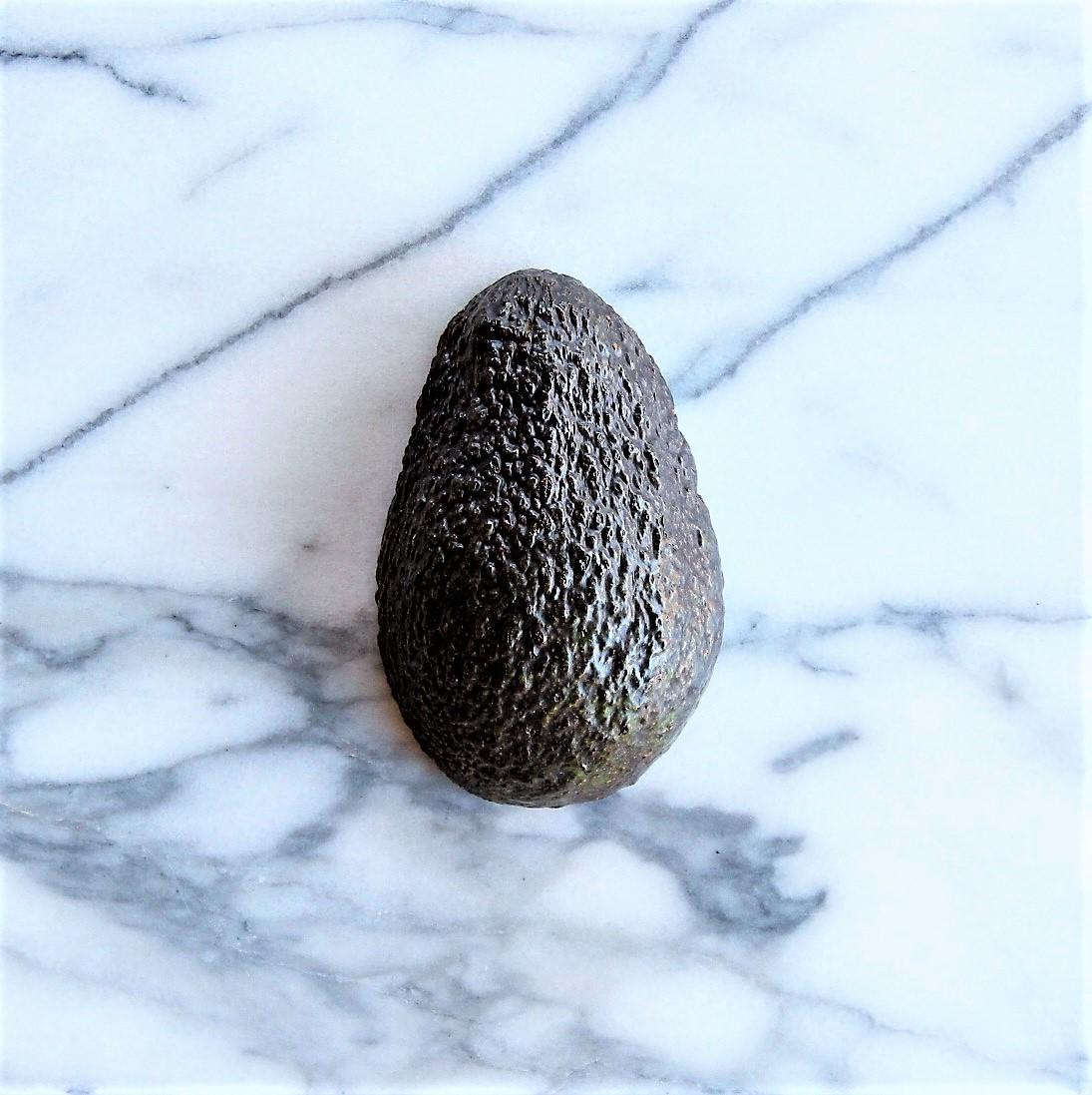 Turn the avocado half face down.