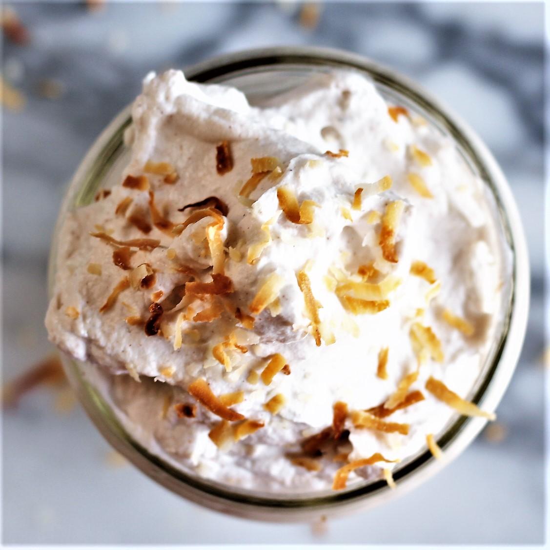 cinnamon coconut whipped cream
