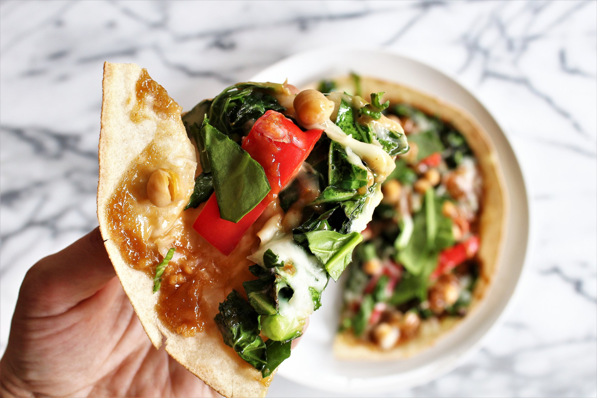 thai veggie pizzas