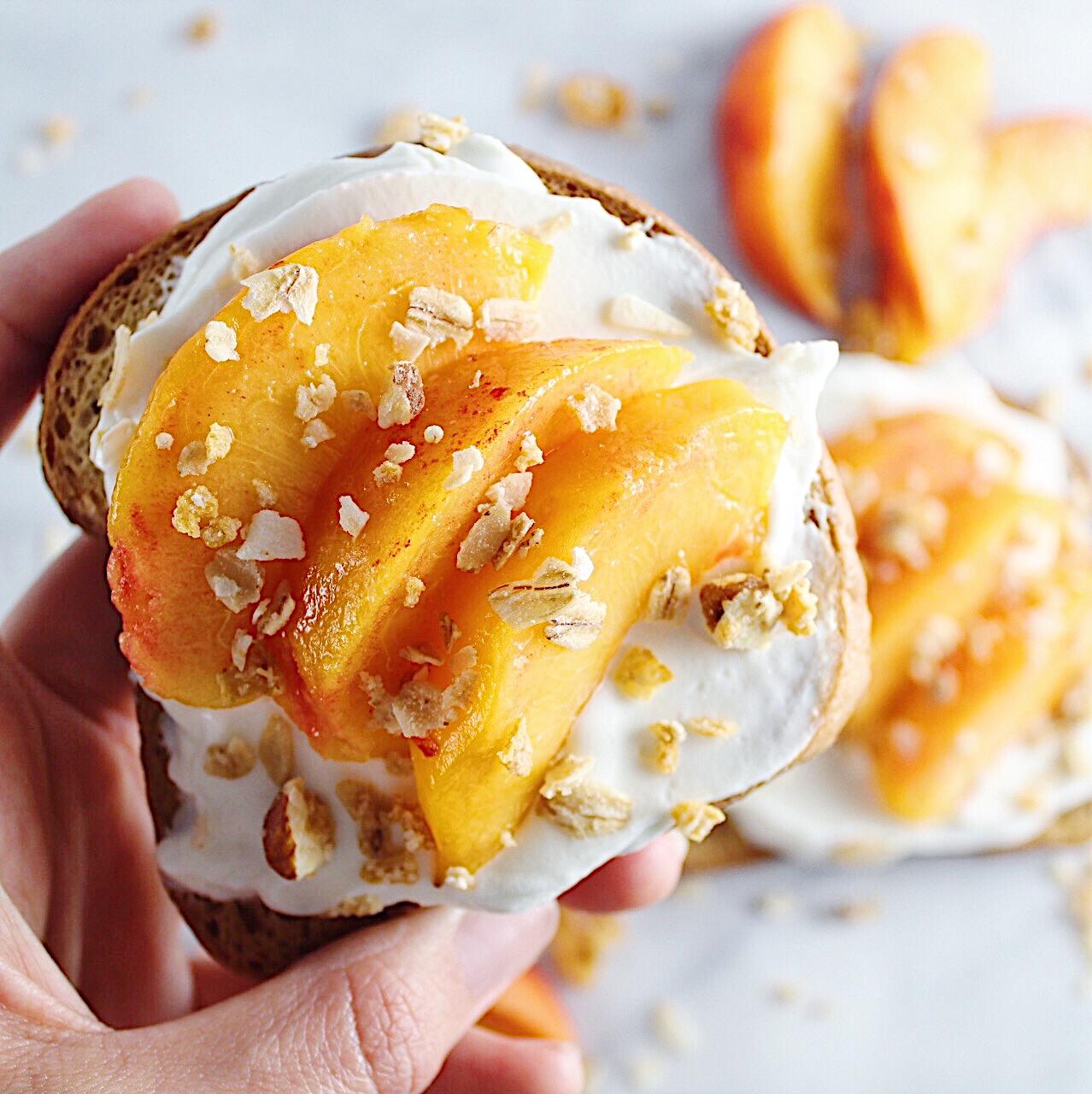 peaches n cream toast