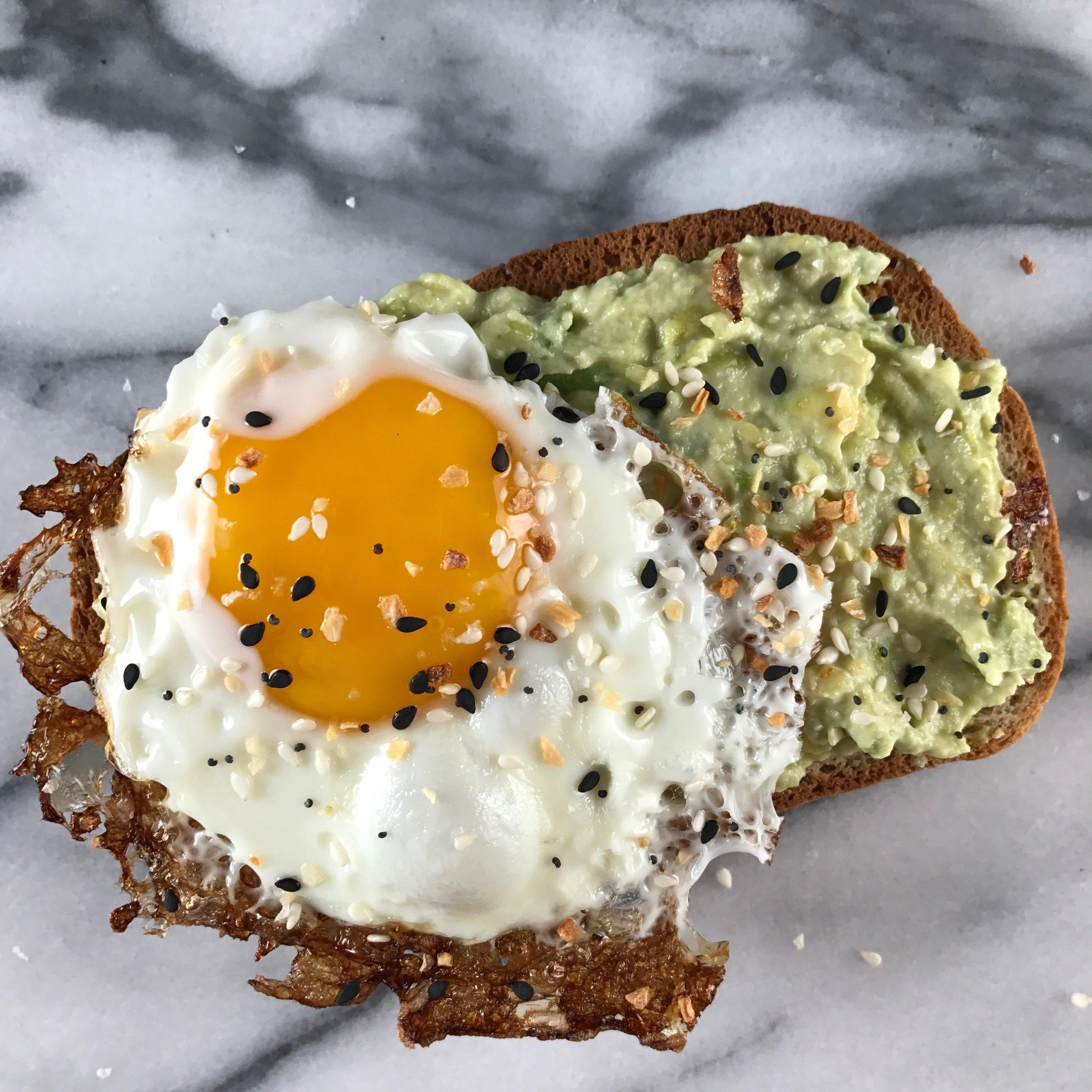 tangy avocado toast