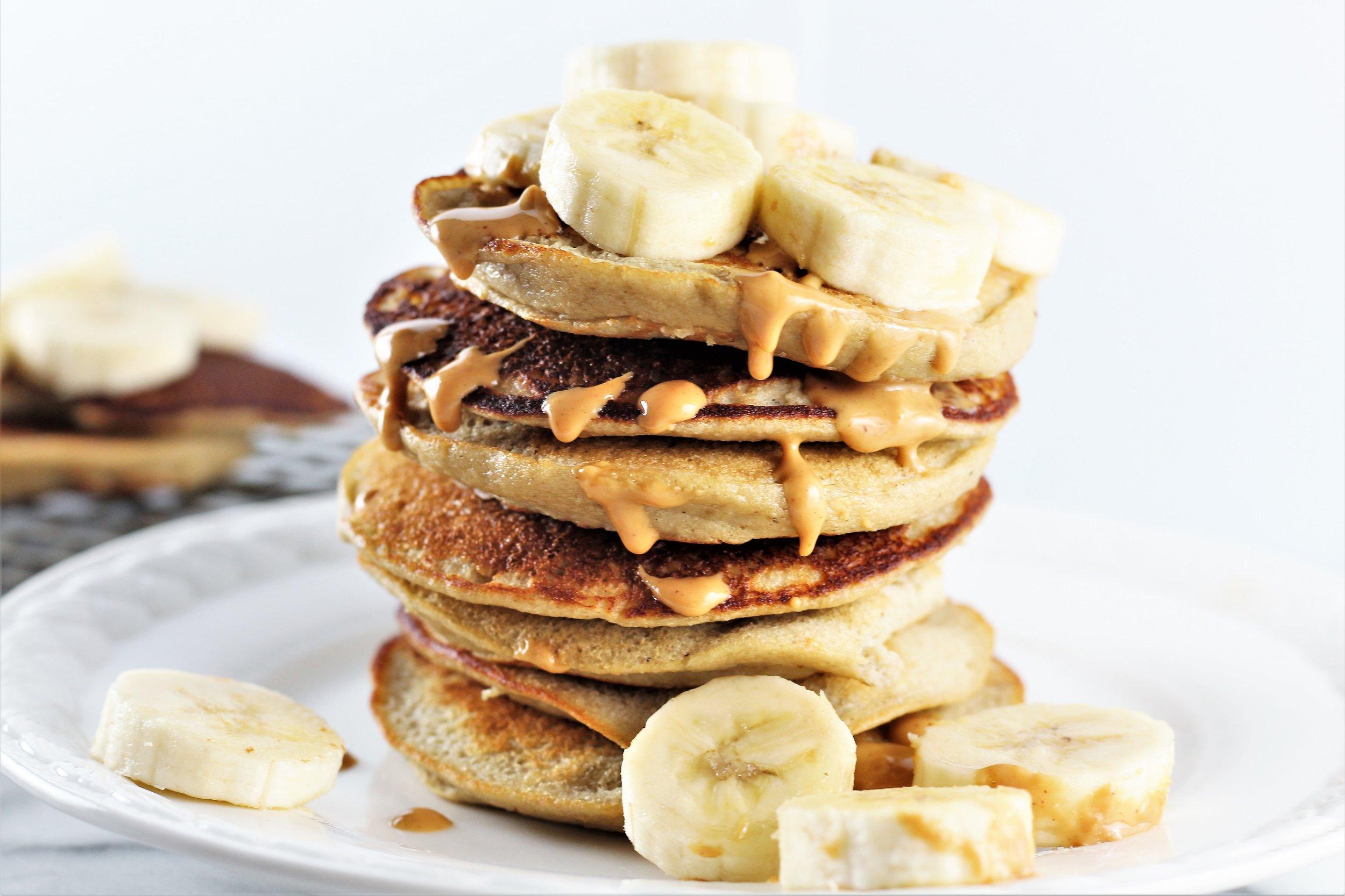 Gluten Free Banana Oat Pancakes