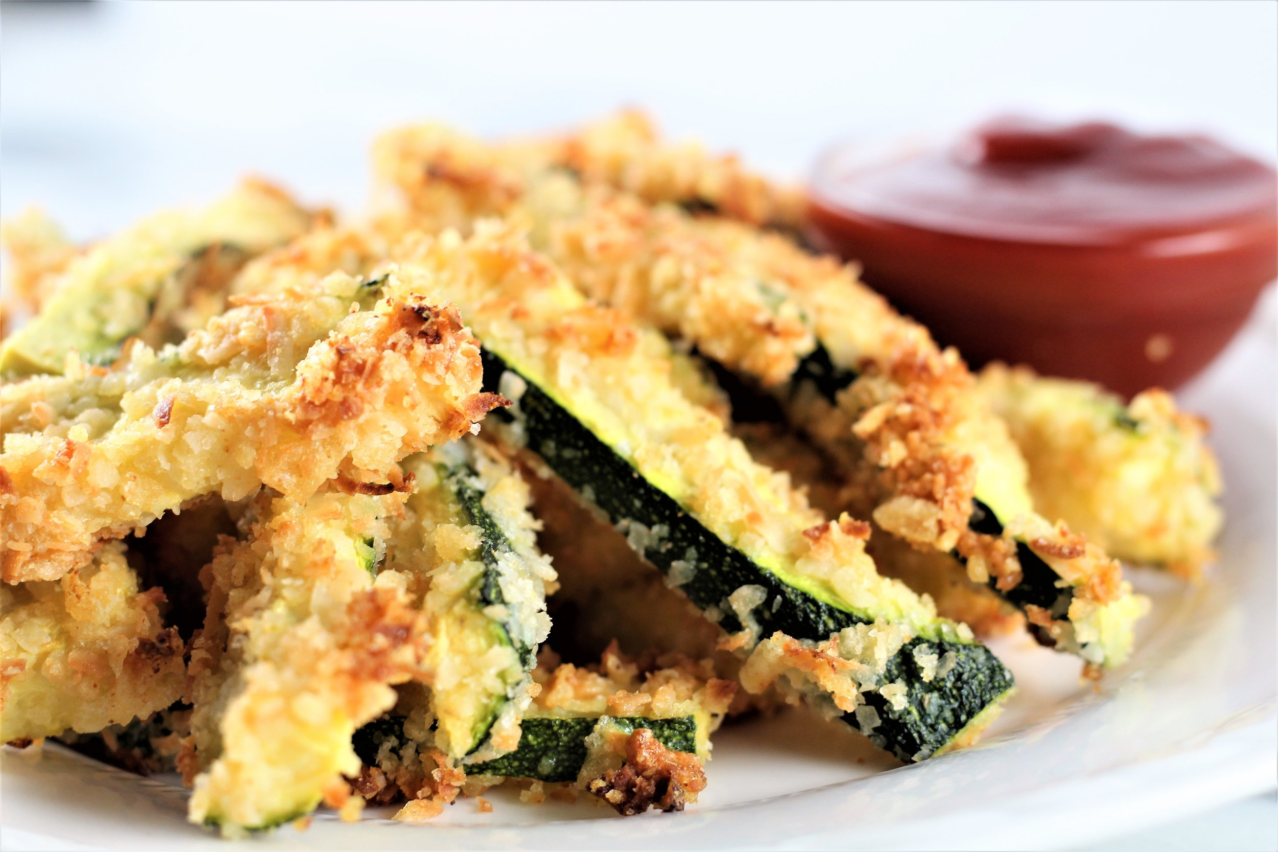 coconut crusted zucchini fries