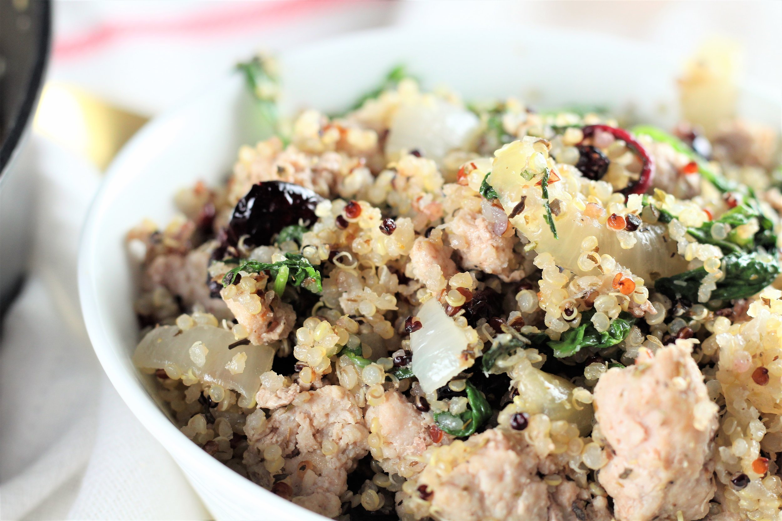 Cranberry Quinoa Veggie Saute