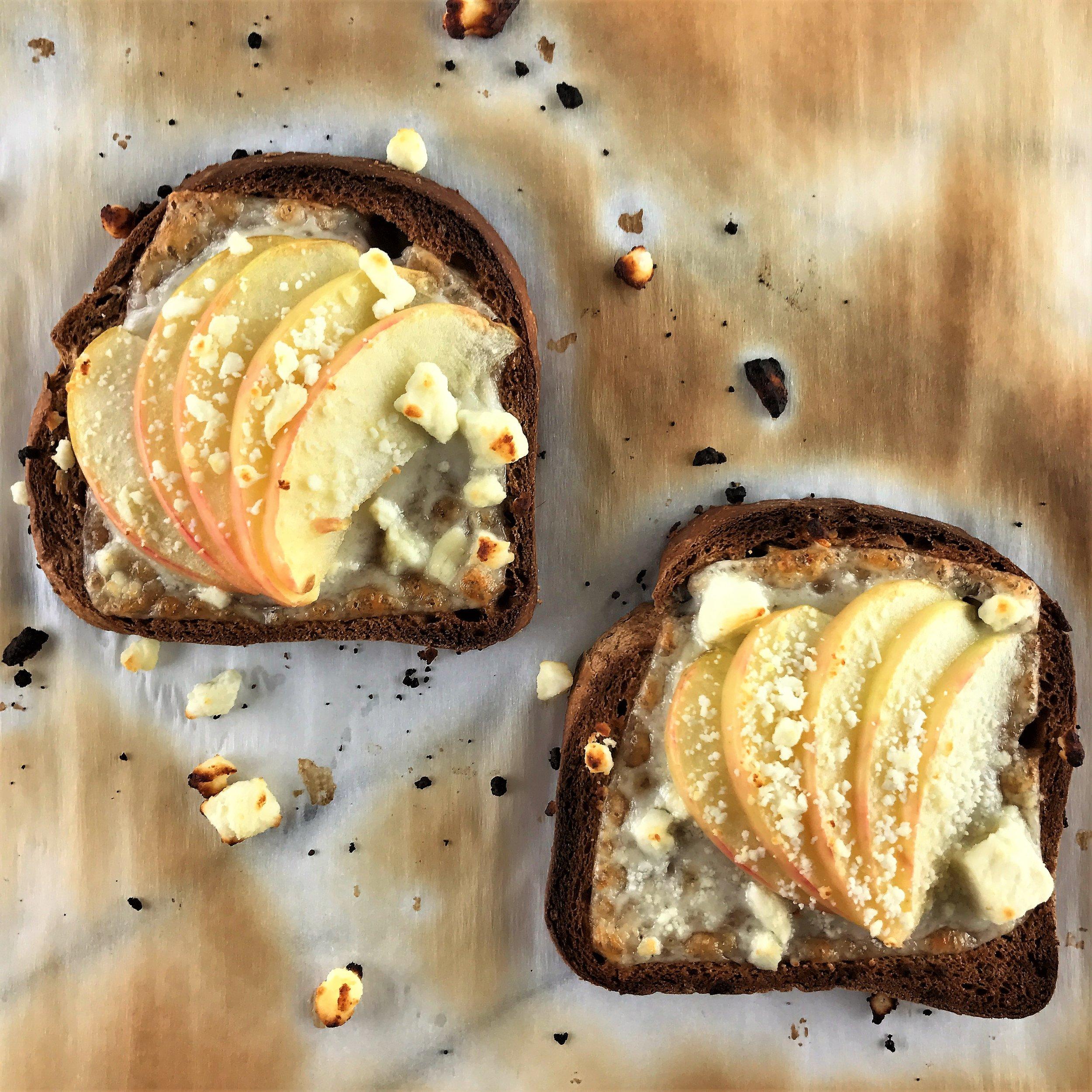 Cheesy Apple Toast