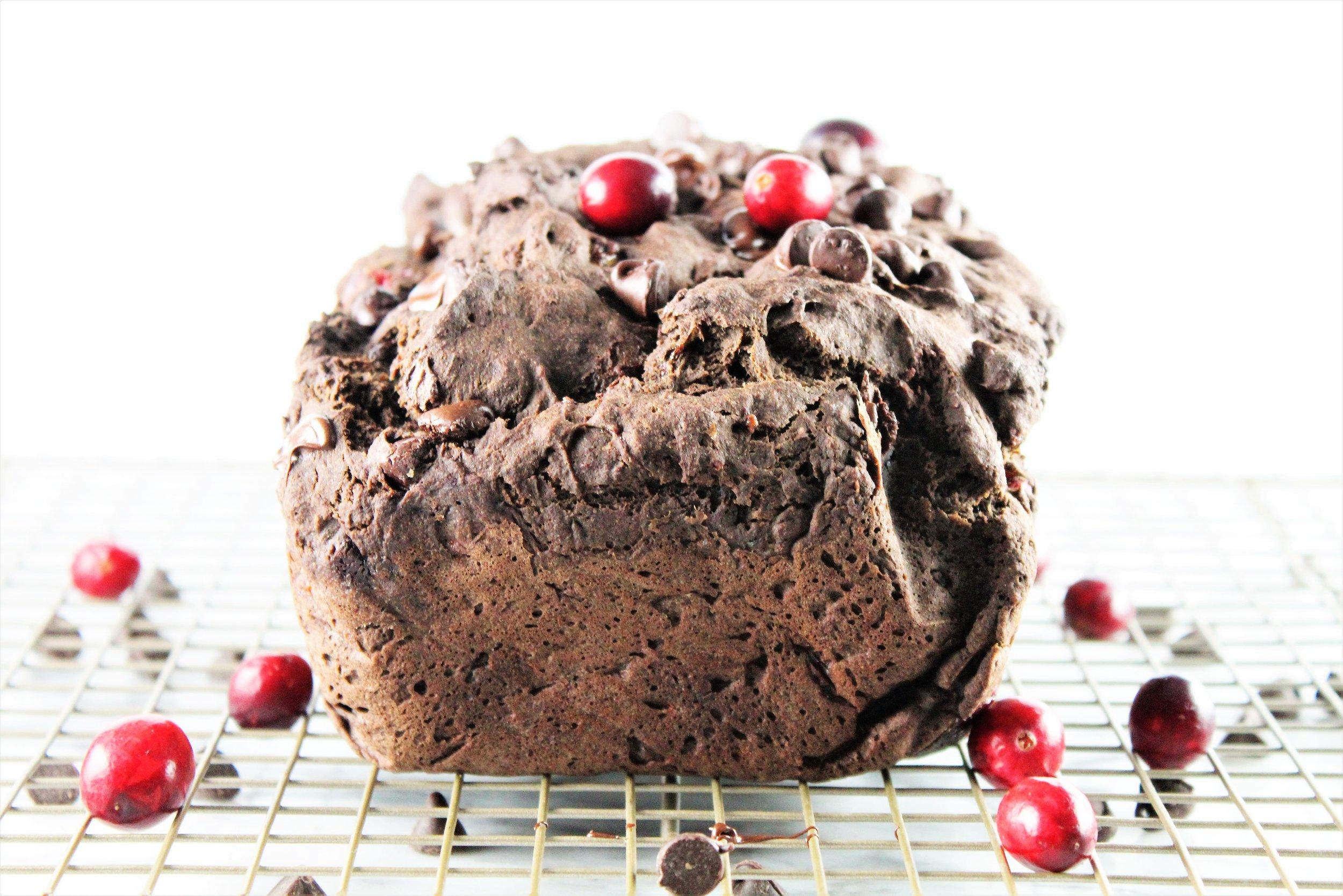 chocolate cranberry banana bread