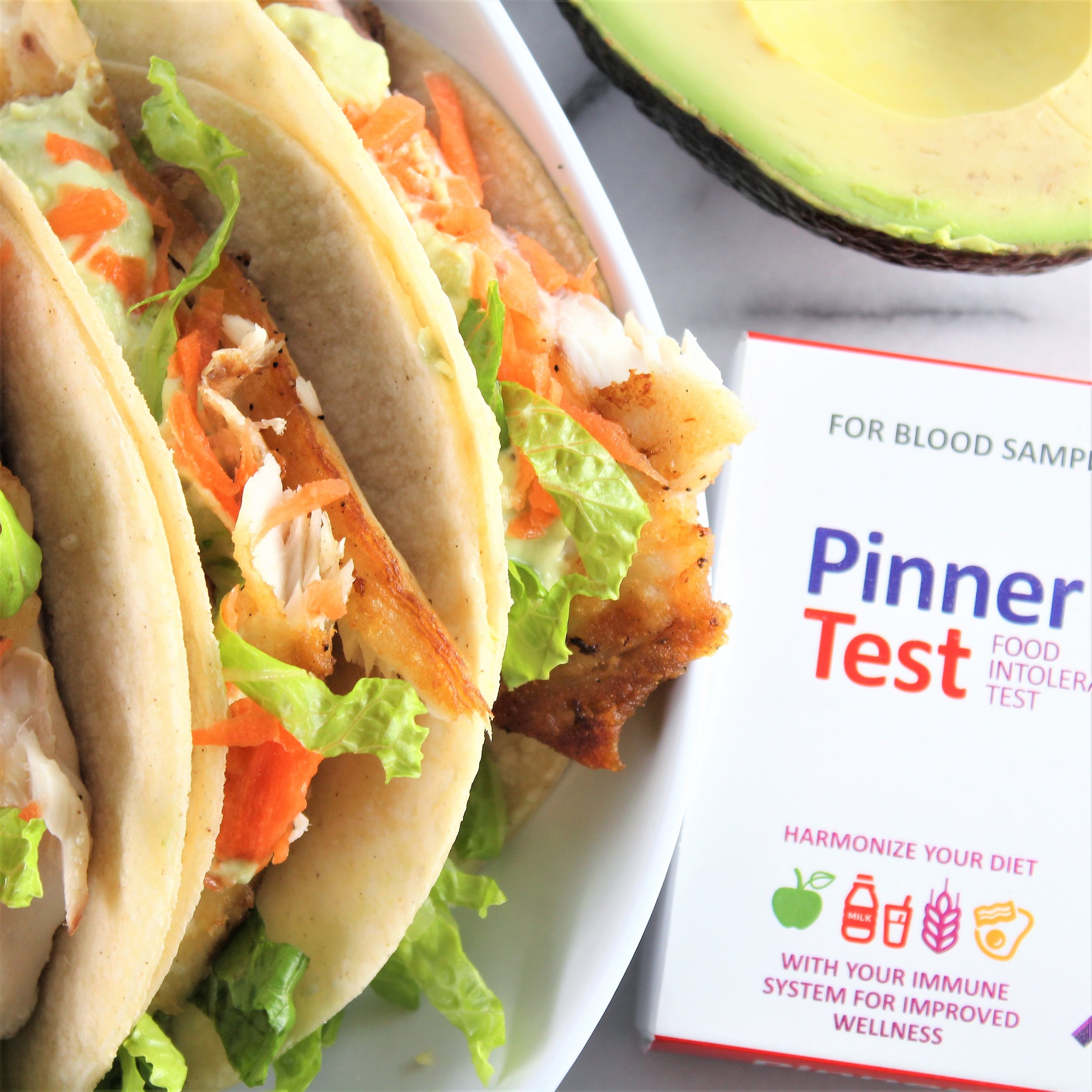 30-minute Fish Tacos with Lemon Avocado Cream Sauce