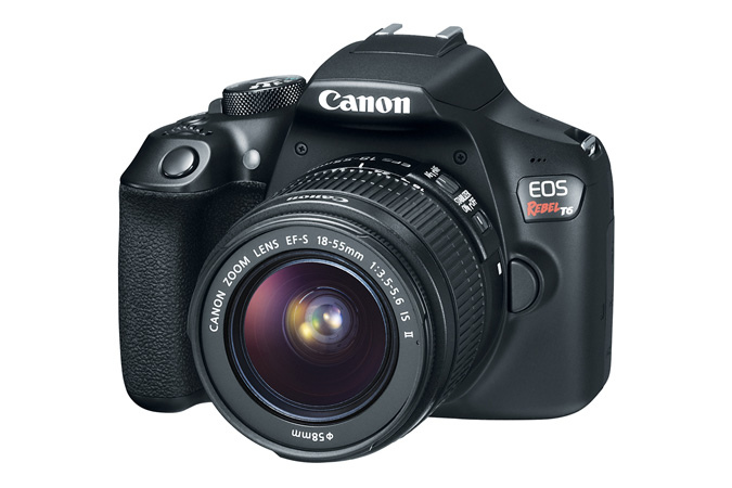 Canon Rebel T6  - Great for both personal or professional use everyone from your mom to an aspiring food photographer can use and love this camera! Click here to purchase.