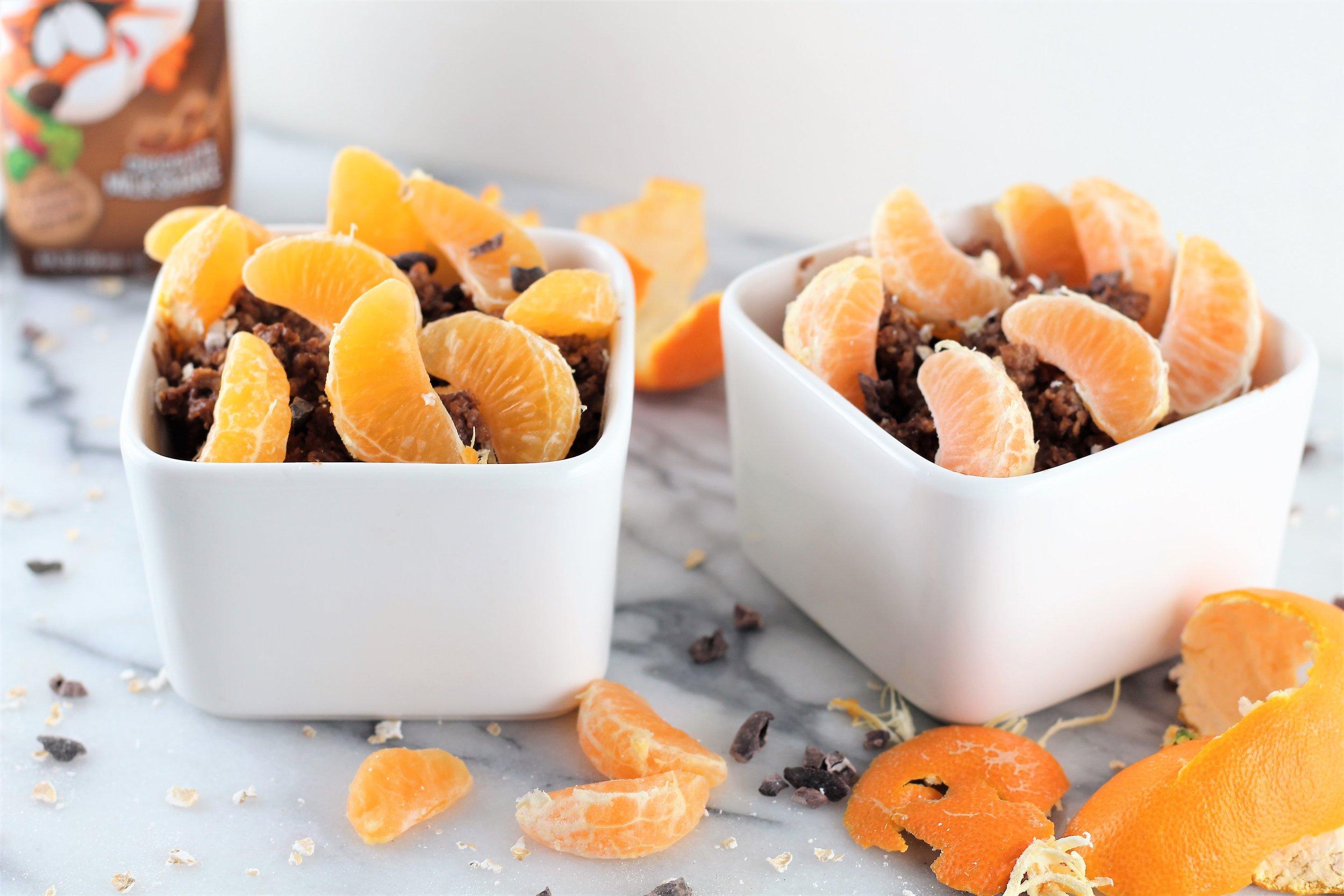Orange Citrus Dark Chocolate Oatmeal