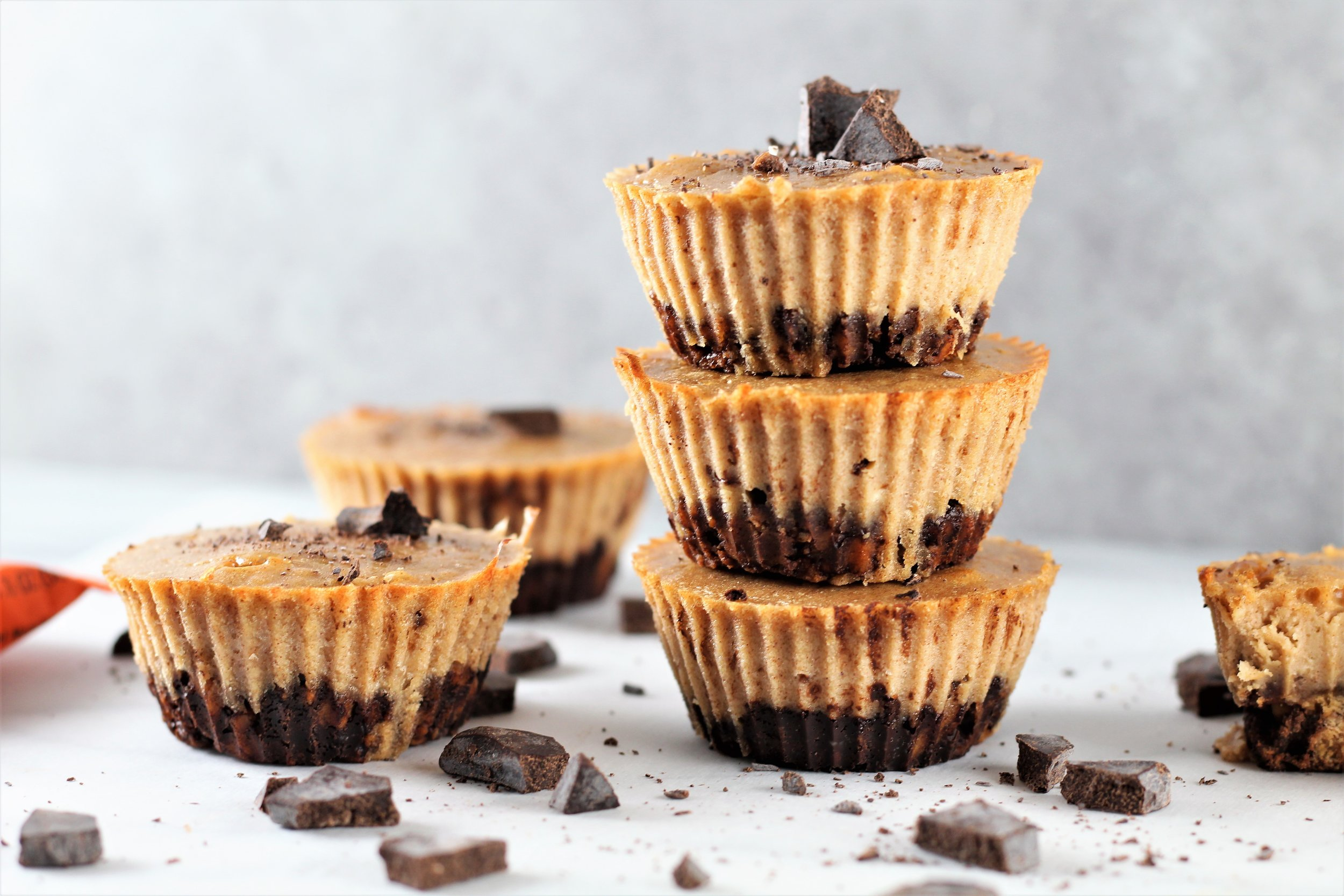 Gluten Free Peanut Butter Chocolate Mini Cheesecakes