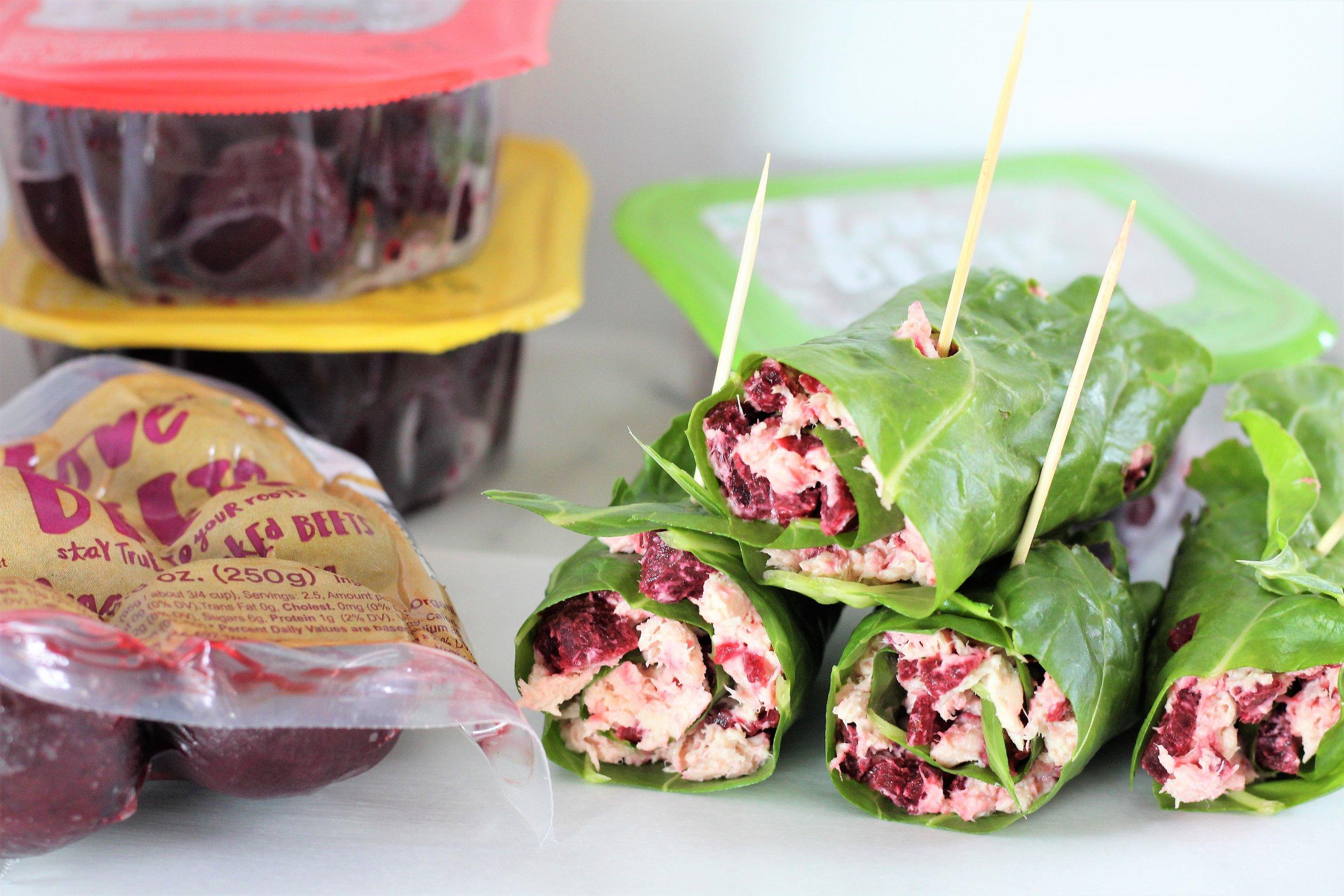 Beet and Tuna Salad Wraps
