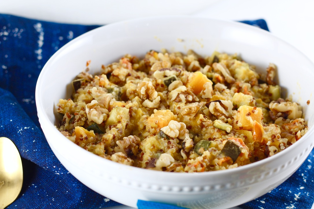 Vegan Creamy Butternut Squash Quinoa Bowl