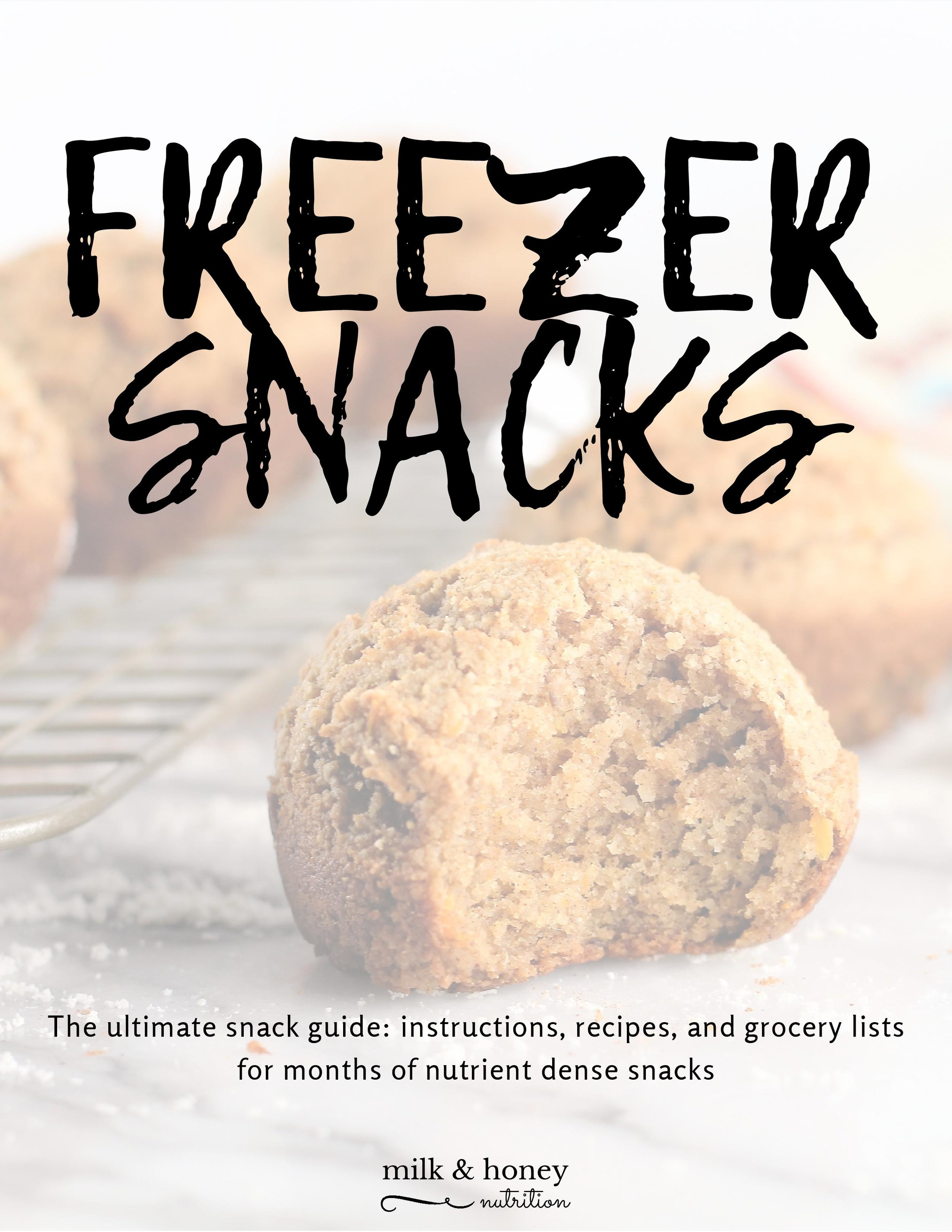 Ready to load your freezer with delicious, nutrient dense snacks? - Have over 200 snacks ready to-go!