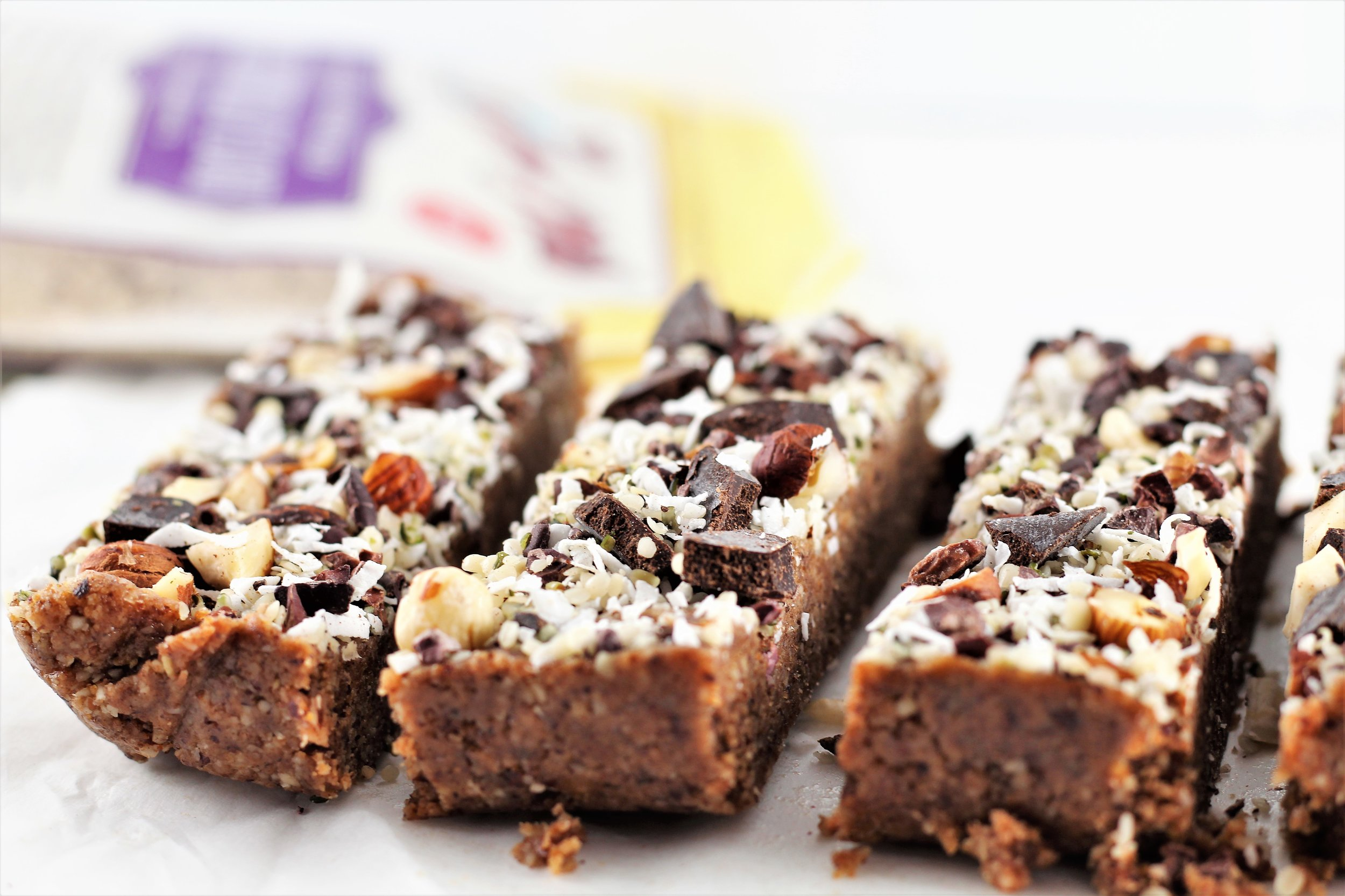 2. Grain Free Hazelnut Magic Bars  (10 most popular recipes of 2018)  This recipe is super simple to make, very easy to customize, and no-bake. Safe to say they don't ever last long in my house when I make them!