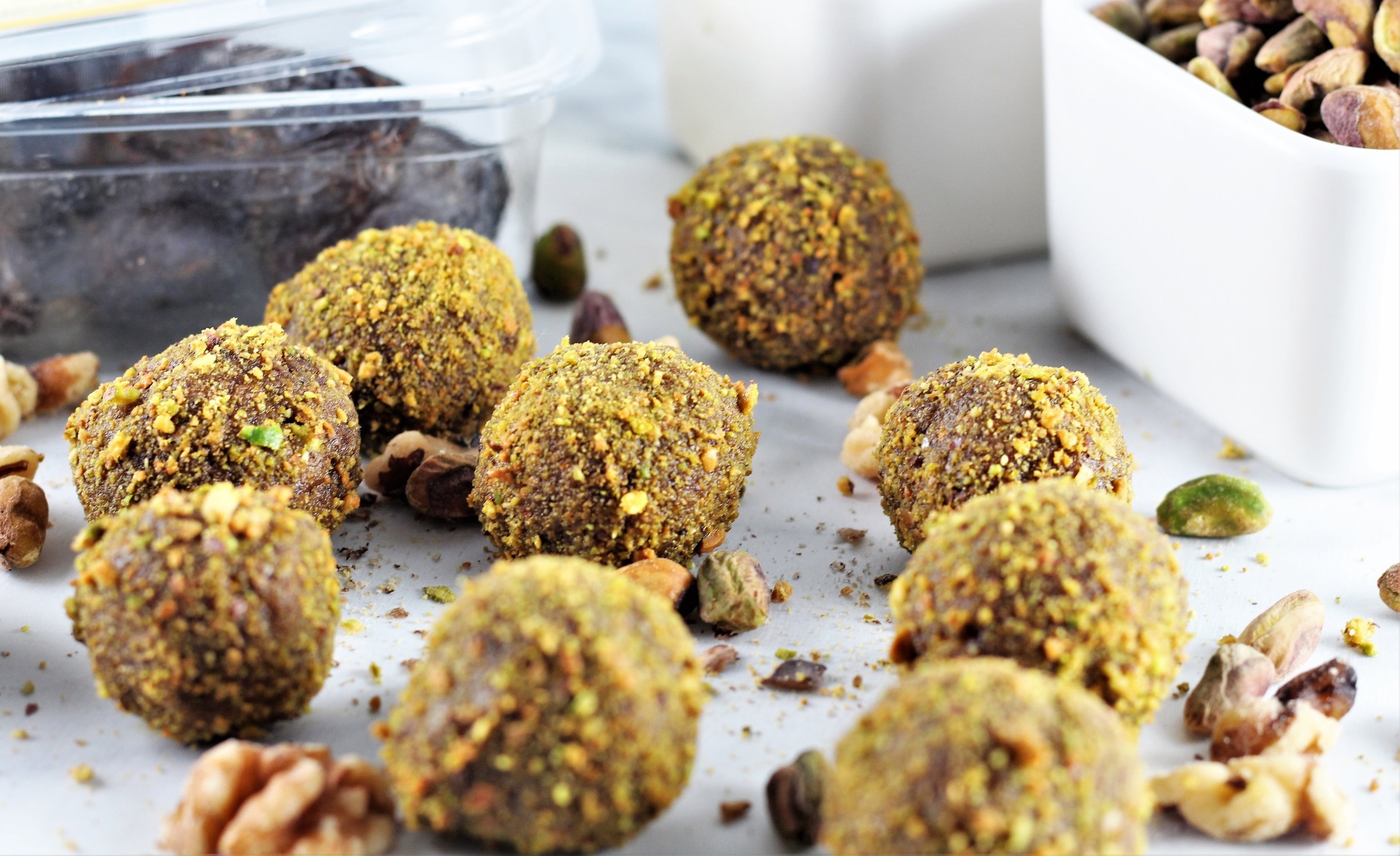 No-Bake Pistachio Walnut Energy Balls