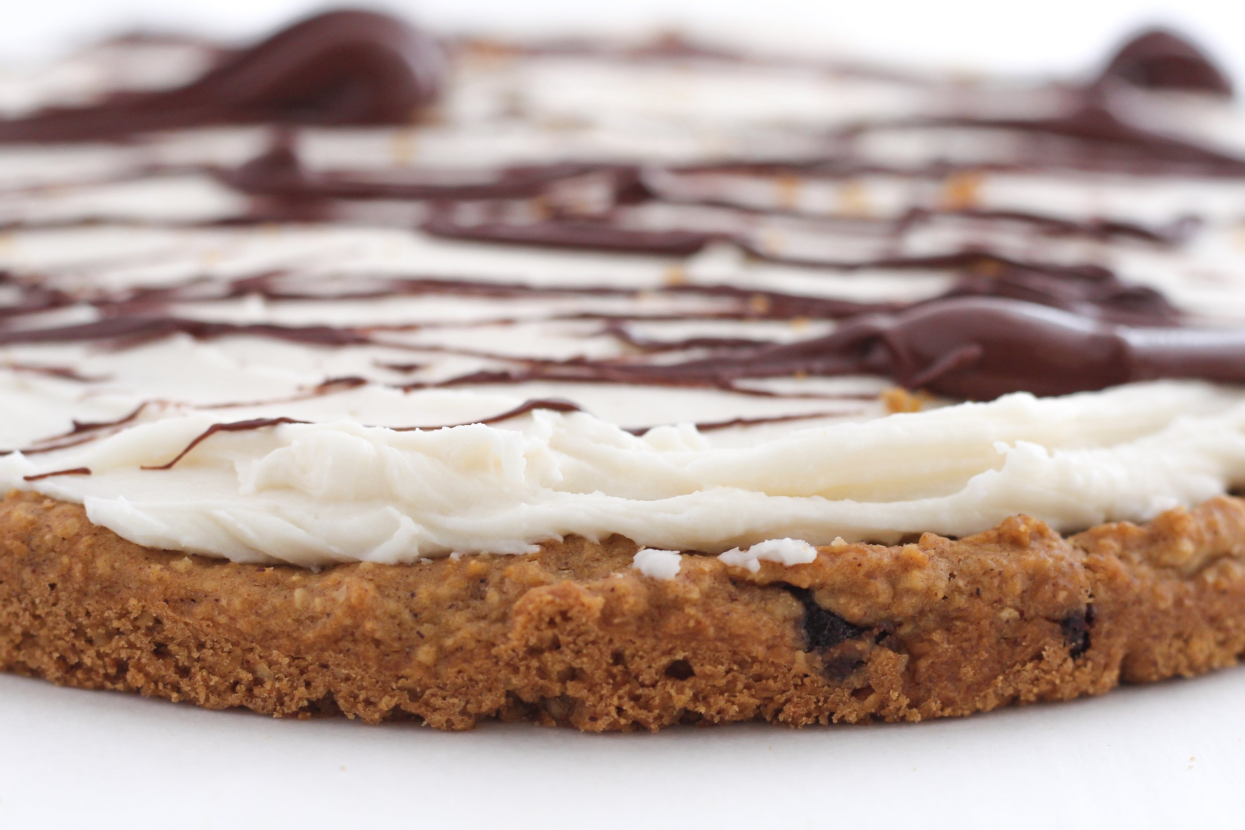 Low Sugar Gluten Free Chocolate Chip Cookie Cake