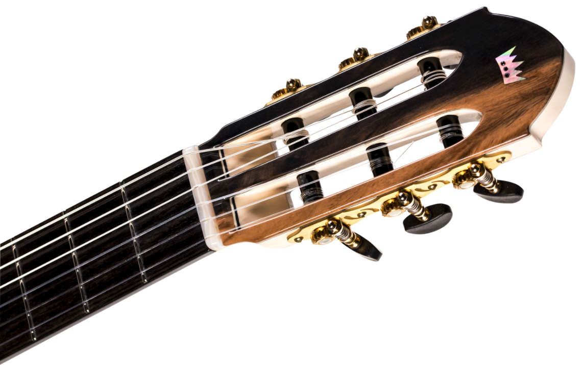 A headstock to remember - Black Diamonds & Mother of Pearl.