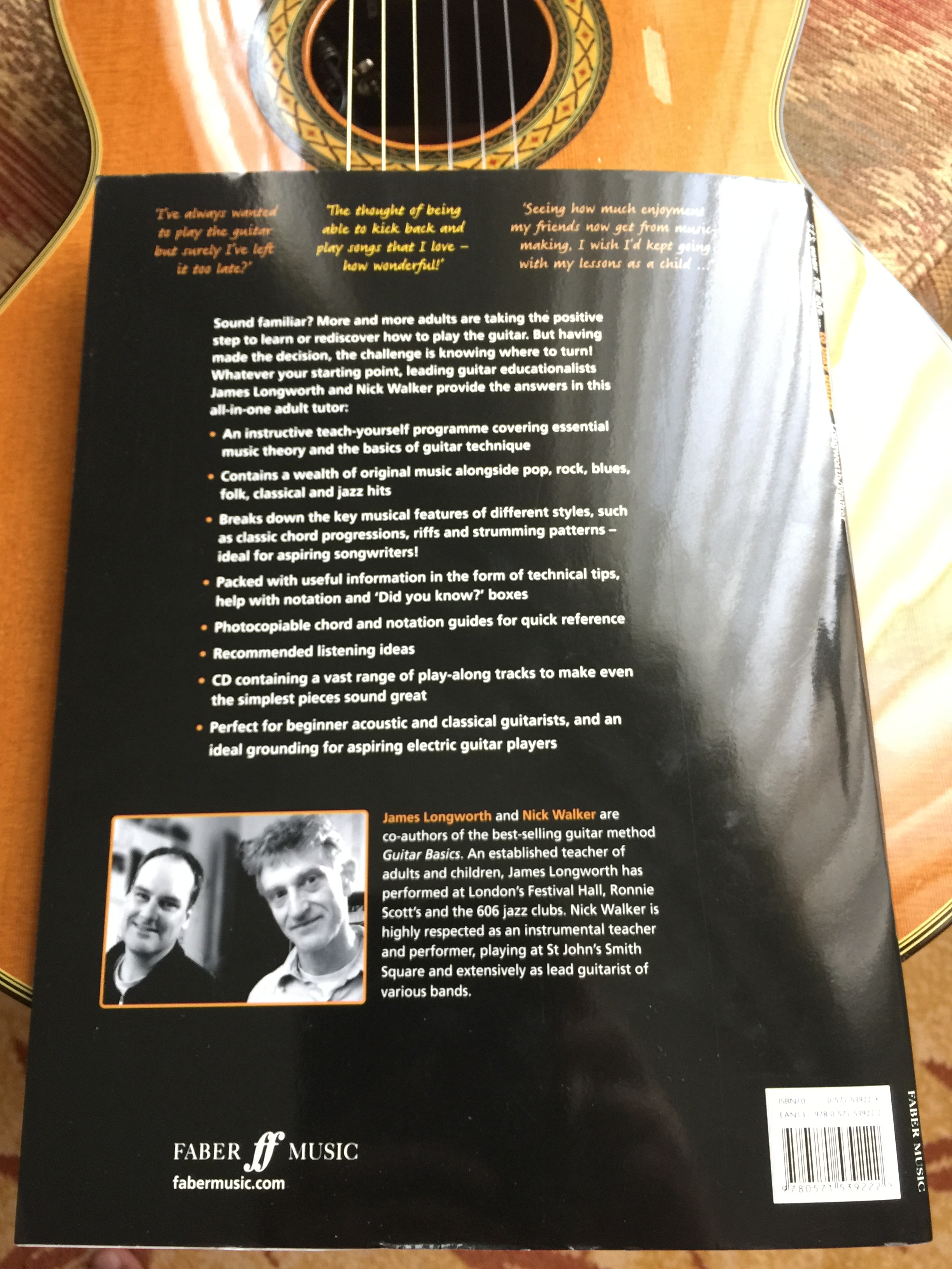 A glimpse of the authors of this exciting new guitar method book.