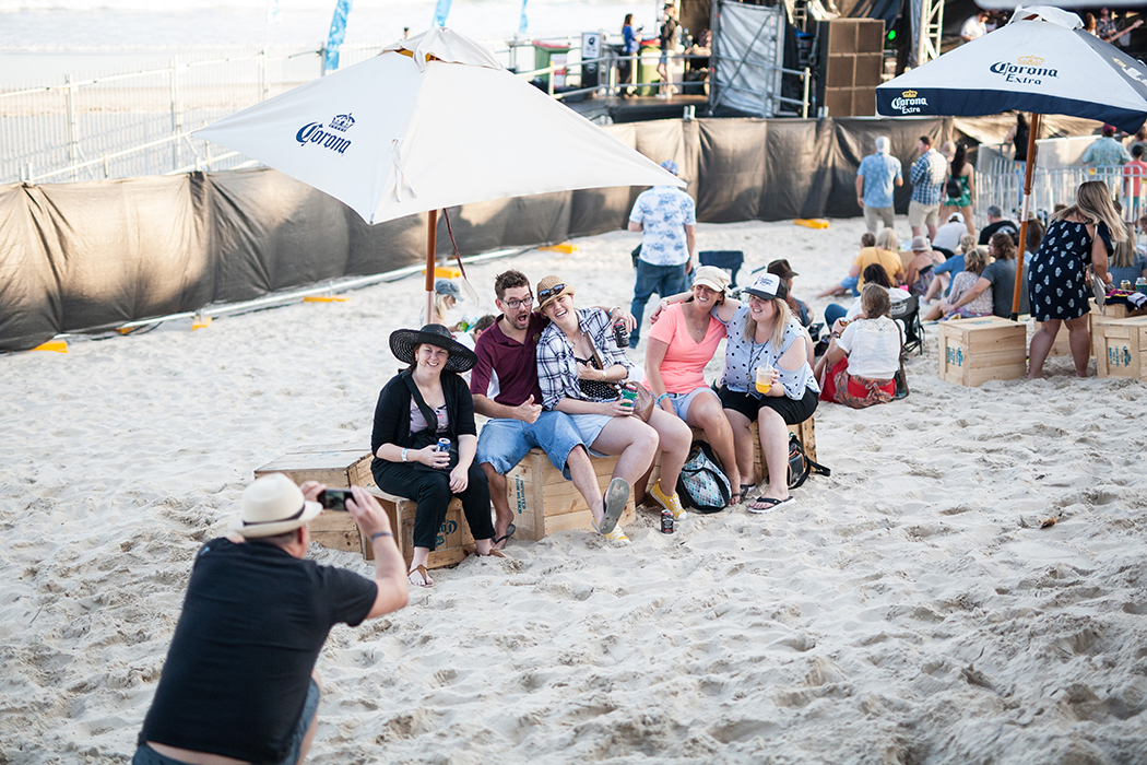 Sand Stage, Caloundra Music Festival 2018.