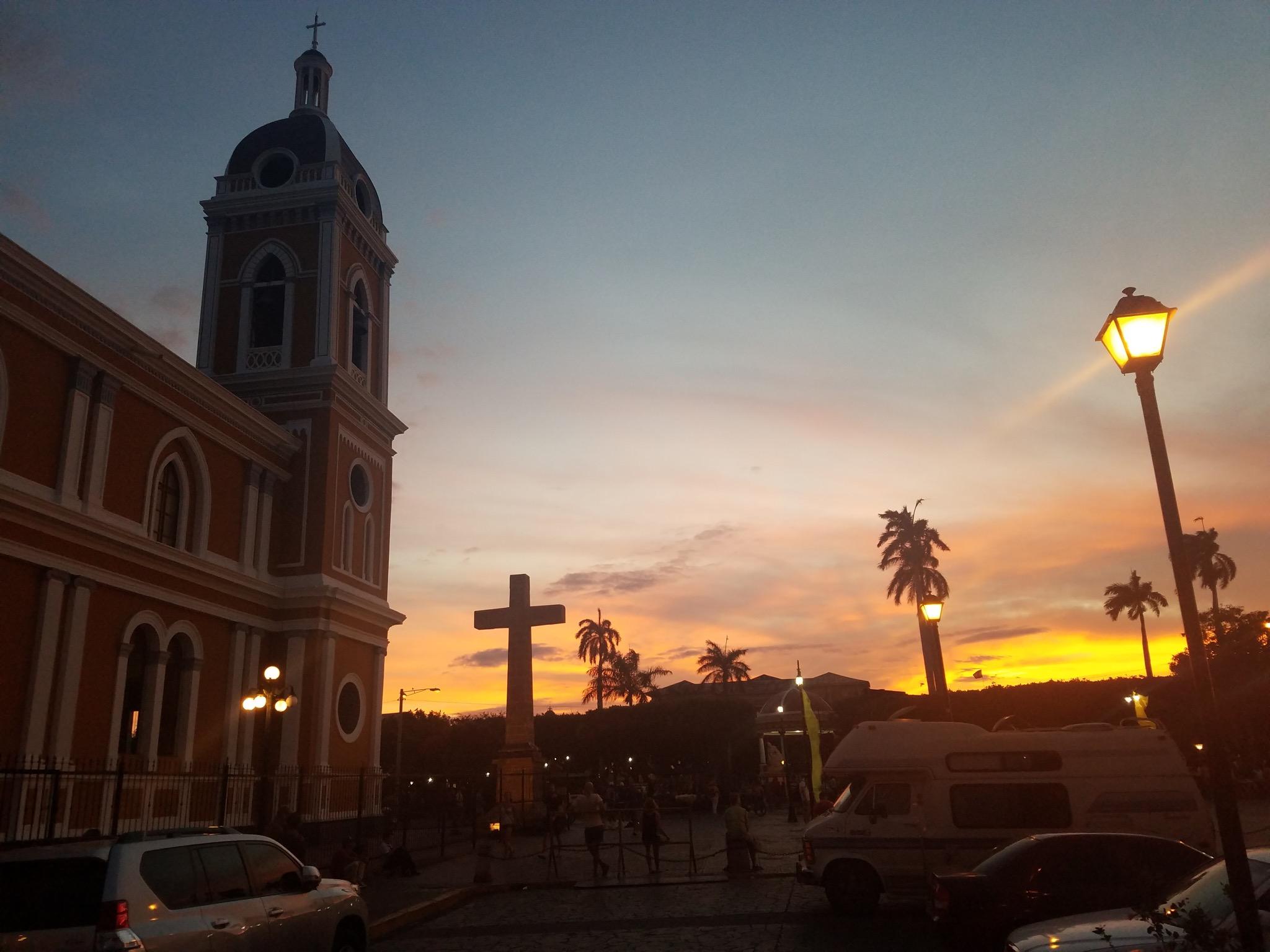 A Granada sunset.