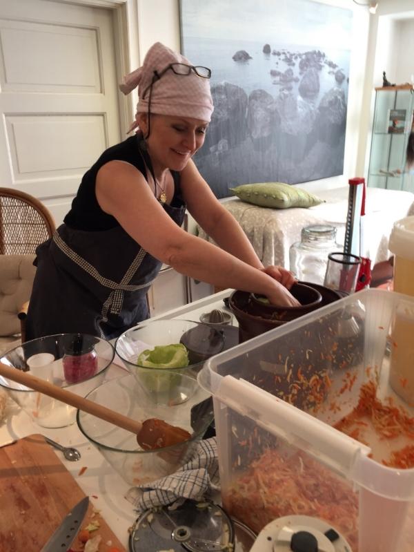 Her skal det bli fermenterte rotgrønnsaker