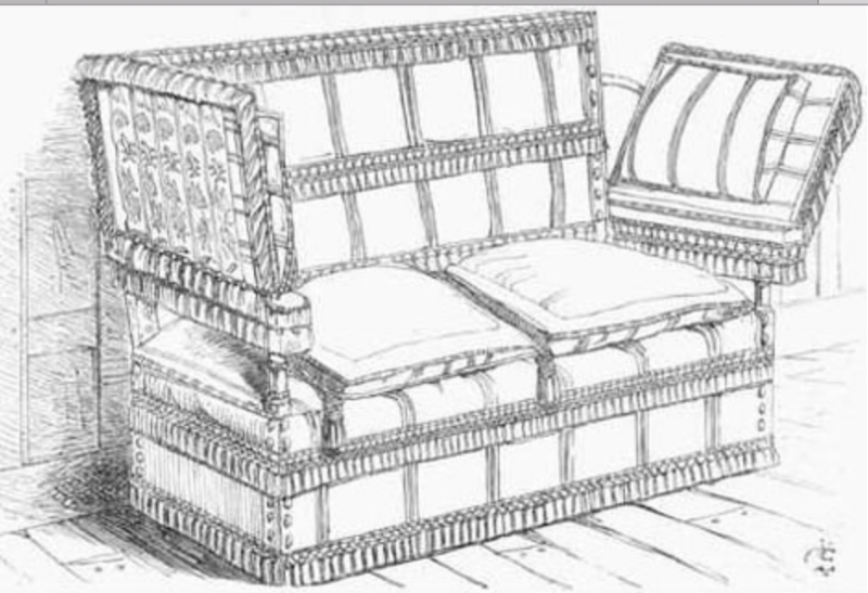 Illustration of a Traditional Knole Sofa