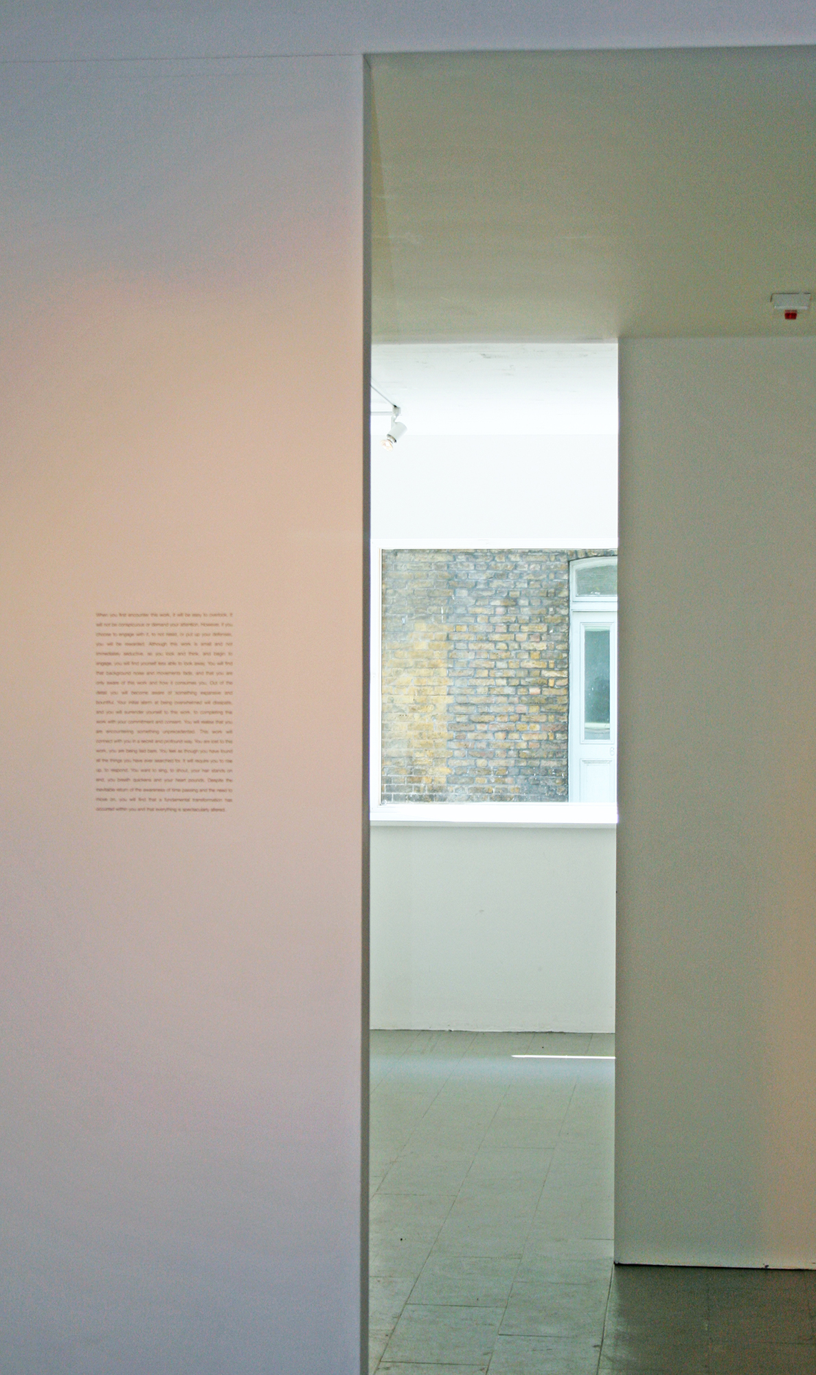 This Work. Wall based text. Kate Pickering.