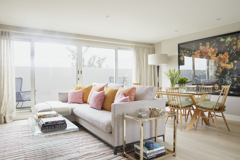 Living - Dining Area | Parsons Green Interior Design Project