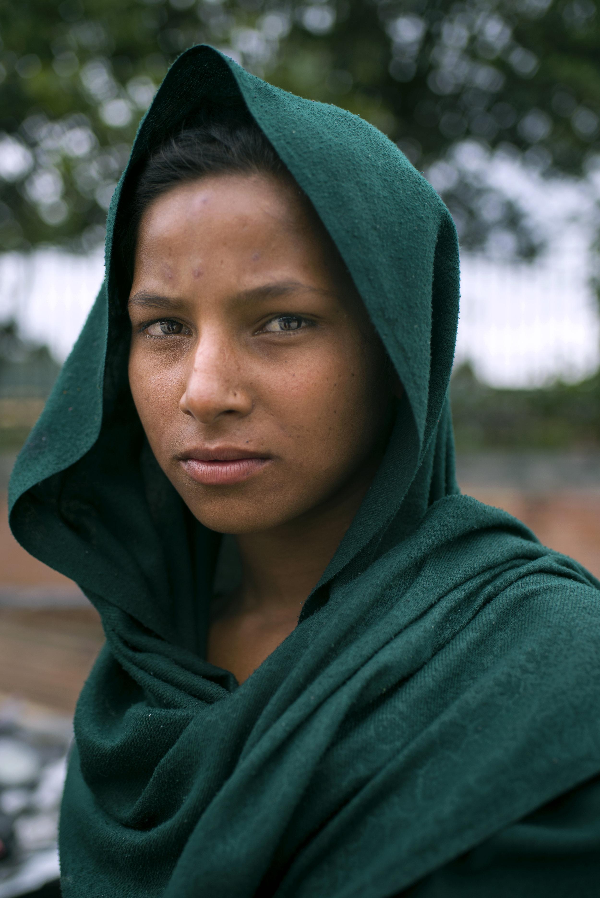 Nepal - Portrait of a street girl