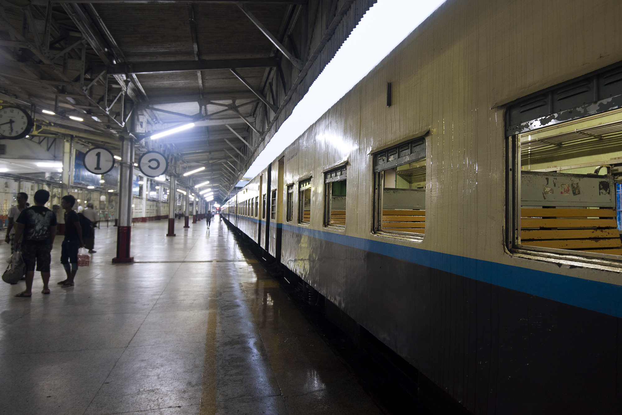 Yangon Central Station - The Mandalay Express waits to depart