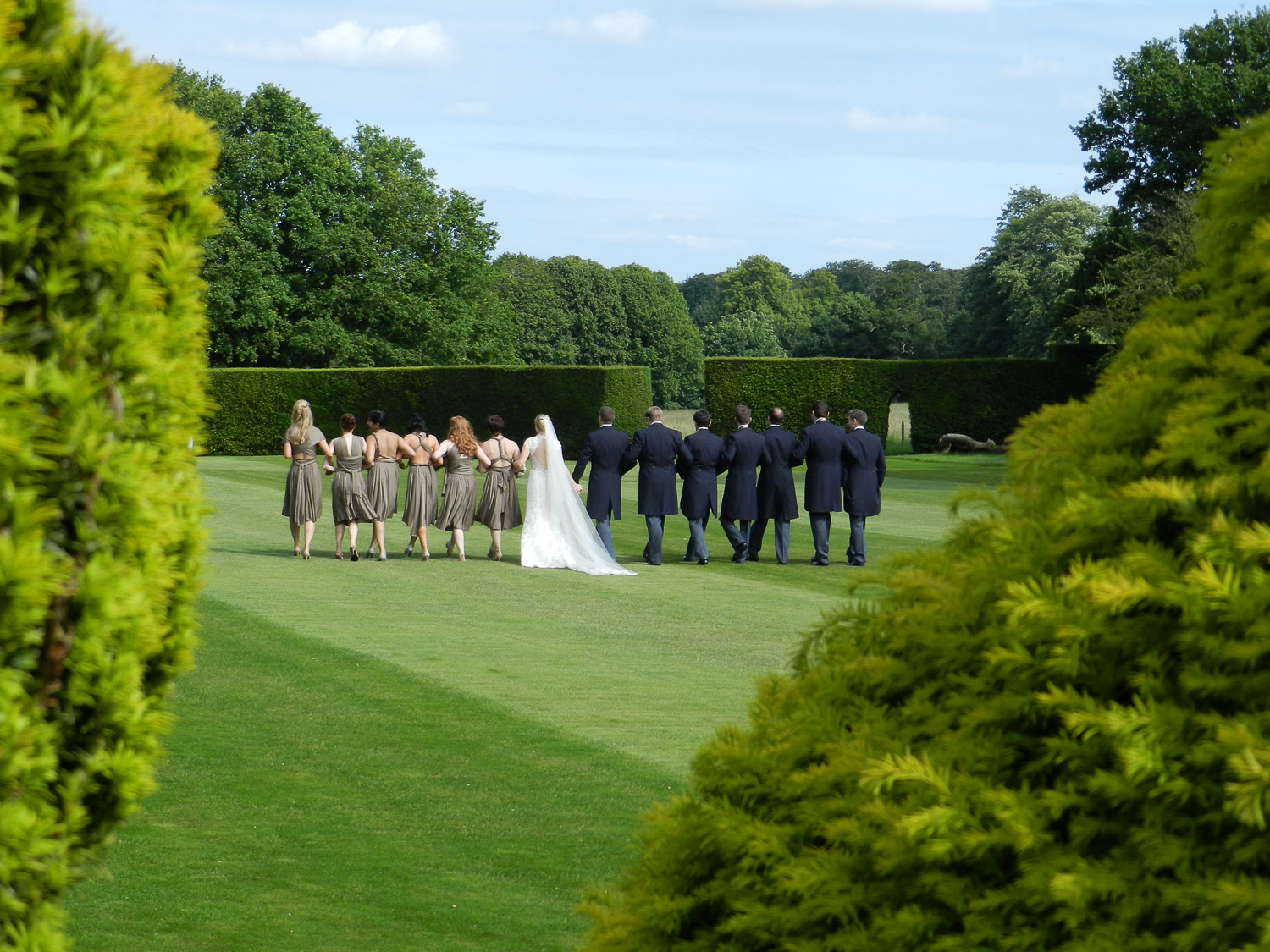 Gallery replacement No 3 Bridal party walking in garden.jpg