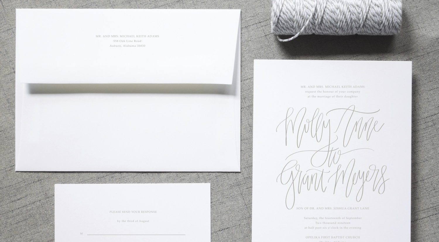 THE MOLLY SUITE - Modern Calligraphy with Warm Grey text