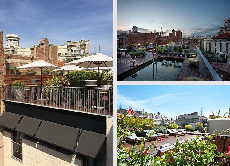 Rooftop Terrace and Pool for Hotel Residents