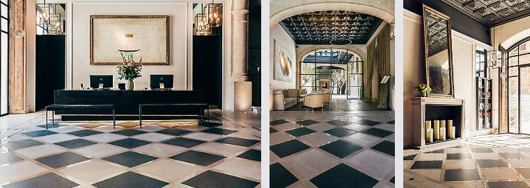 The luxury boutique hotel is set within the historic center of Palma de Mallorca