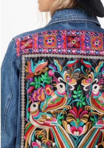 Boohoo Cassie Embellished Denim Festival Jacket £40.00