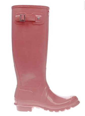 Hunter pale pink original tall gloss boots   £95.00