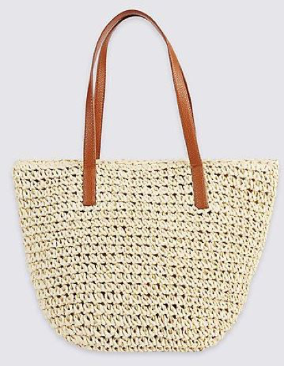 Straw Bucket bag M&S  £15