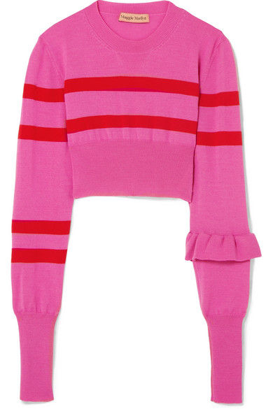 Cropped striped jumper, £305, Maggie Marilyyn at Net-a-Porter. Available at -  https://rstyle.me/~akx7h